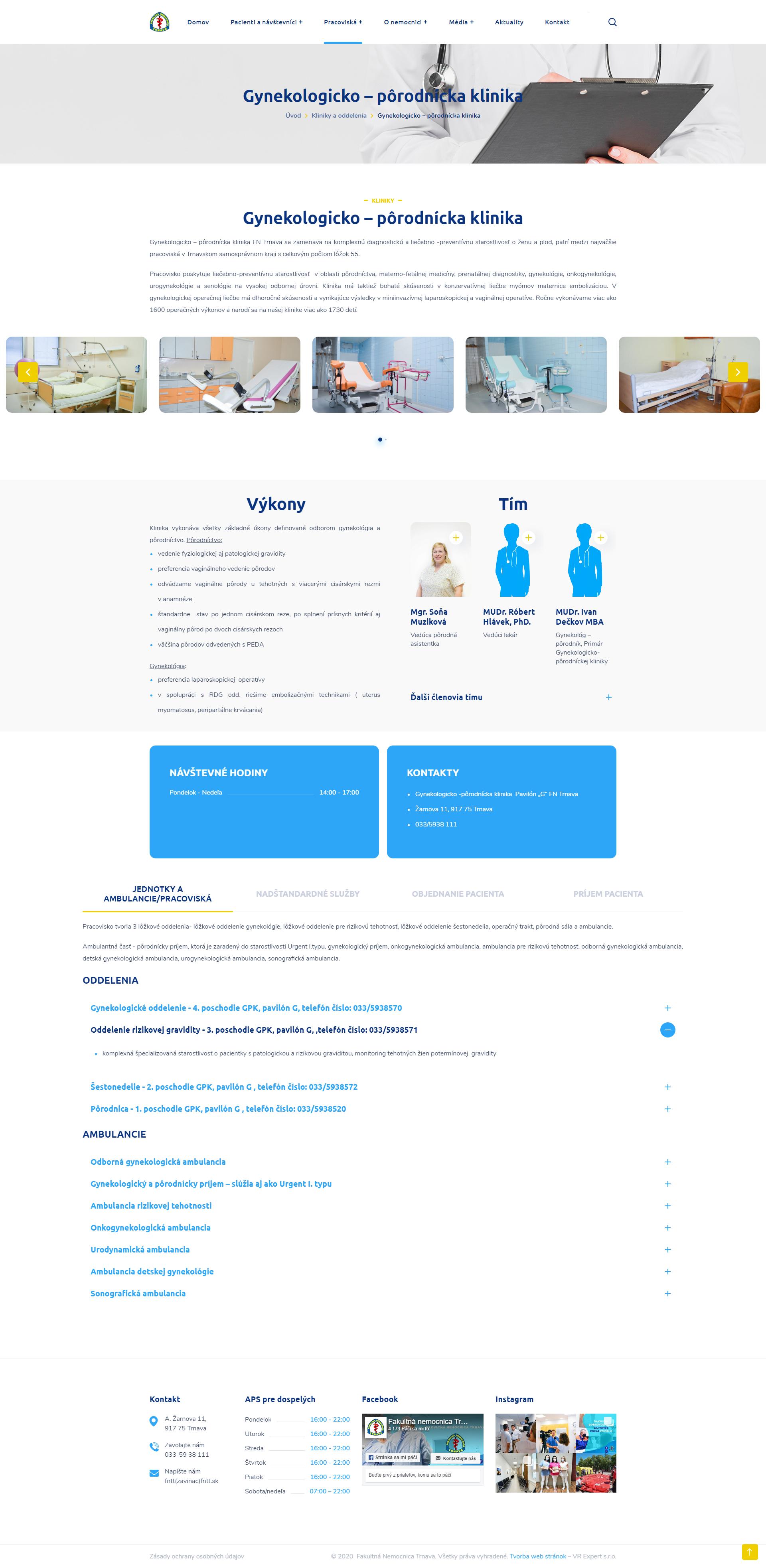 Fakultná nemocnica Trnava - webstránka